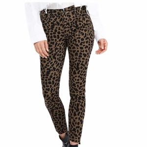NWT Express Ripped Leopard Ankle Legging Jeans
